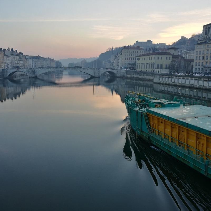 Lyon Rhone river